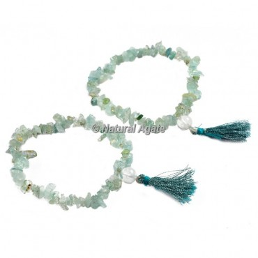 Green Fluorite Chips Healing Yoga Bracelet