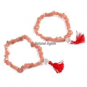 Peach Aventurine Chips Healing Yoga Bracelet