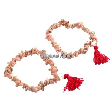 Rhodonite Chips Healing Yoga Bracelet BB