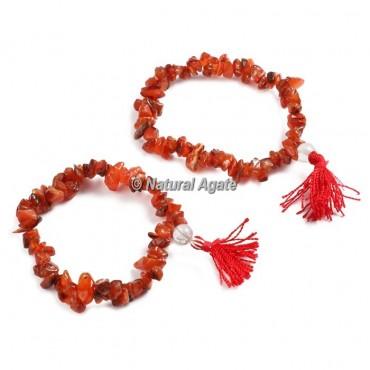 Carnelian Chips Healing Yoga Bracelet