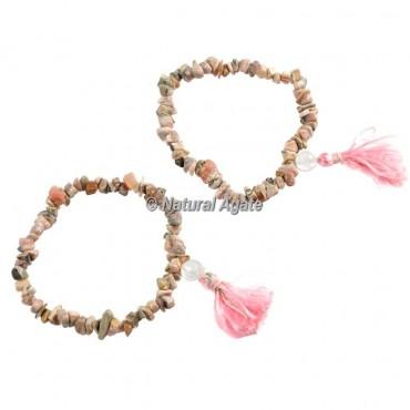 Rhodocrosite Chips Healing Yoga Bracelet