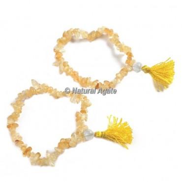 Citrine Chips Healing Yoga Bracelet