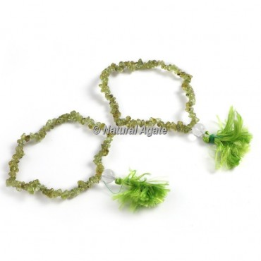 Peridot Chips Healing Yoga Bracelet