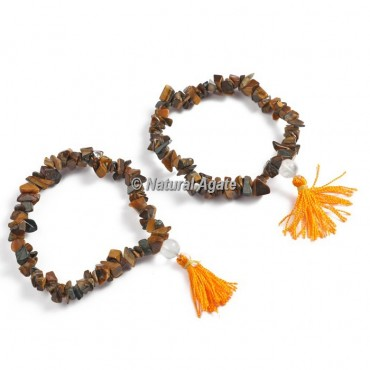 Tiger Eye Chips Healing Yoga Bracelet