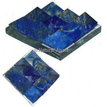 Lapis Lazuli Lemurian 9 Pyramid Charging Plate