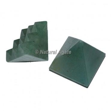 Green Aventurine Lemurian 9 Cut Vastu Pyramid