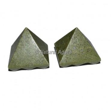 Pyrite Lemurian 9 Cut Vastu Pyramid