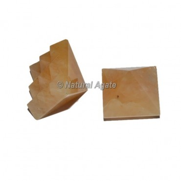 Golden Quartz  Lemurian 9 Cut Vastu Pyramid