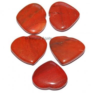 Red Jasper Hearts