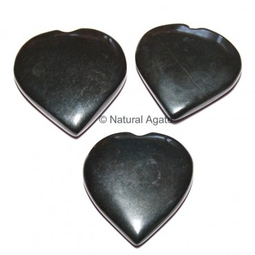 Black Agate Hearts