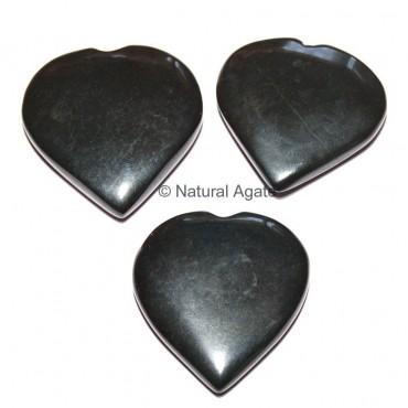 Black Agate Hearts