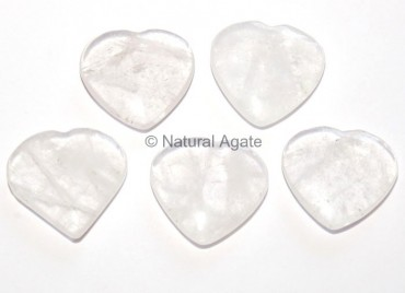 Crystal Quartz Hearts