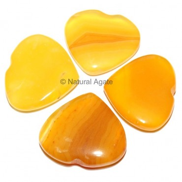 Yellow Onyx Hearts