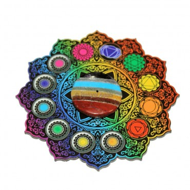 Bonded Chakra With Accent Design Printed Incense Burner