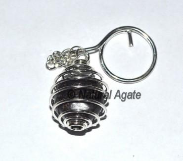 Garnet Cage Tumbled Keychain