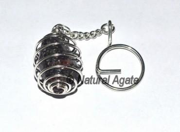 Ruby Metrix Cage Tumbled Keychain