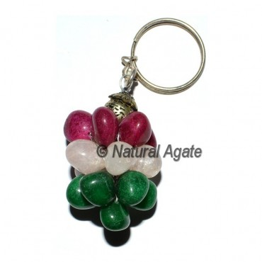 Mix Dyed Tumbled Grap Keychain
