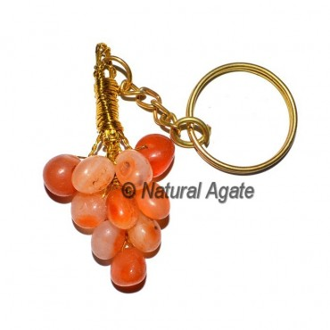 Carnelian Grapes Tumbled Keychain