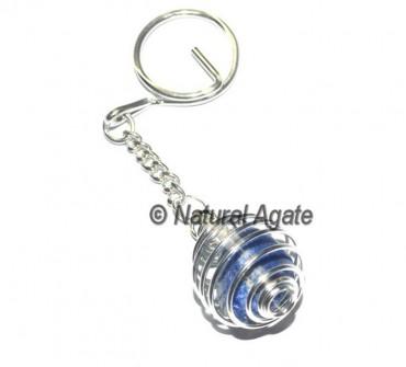 Lapis Lazuli Cage Keychain