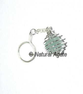 Green Aventurine Cage Keychain