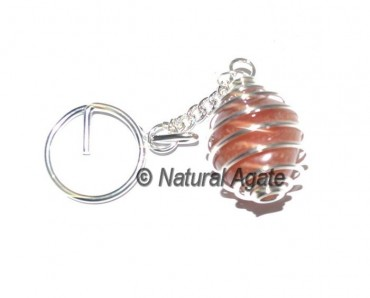 Red Carnelian Cage Keychain