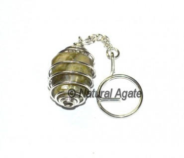 Vesonite Tumbled Cage Keychain