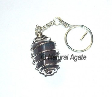Ruby in Kyanite Tumbled Cage Keychain