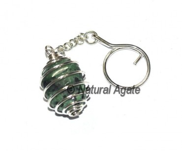 Ruby Tumbled Cage Keychain