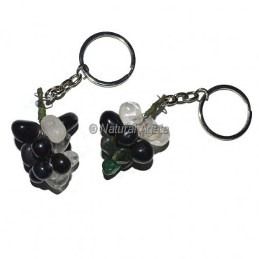 Multi Color Grapes Keychain