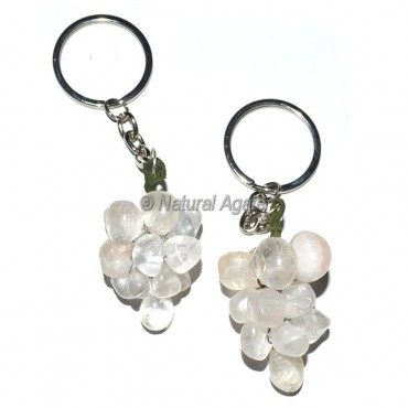 Crystal Quartz Grape Keychain