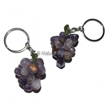 Amethyst Grape Keychain