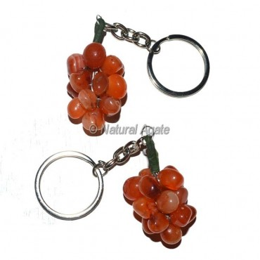 Carnelian Grape Keychain