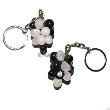 Multi Color Grape Keychain