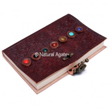 Leather Journals with 7 Chakra Stones