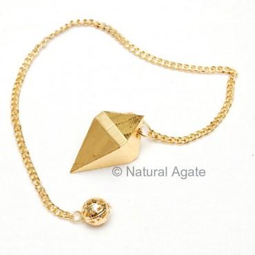 Golden Plated Metal Pendulums