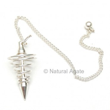 Silver Plated Spiram Pendulums