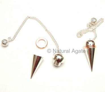 Silver Copper Open Screw Pendulums