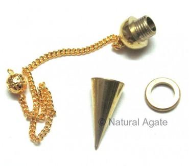 Golden Copper Open Screw Pendulums