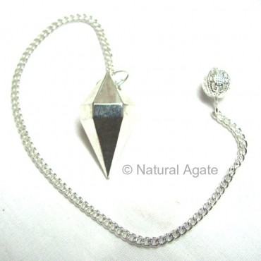 Silver Double Point Metal Pendulums