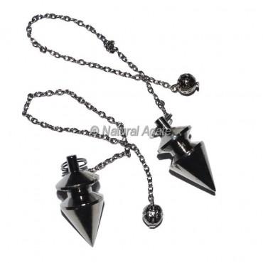 Carved Black Copper Pendulums