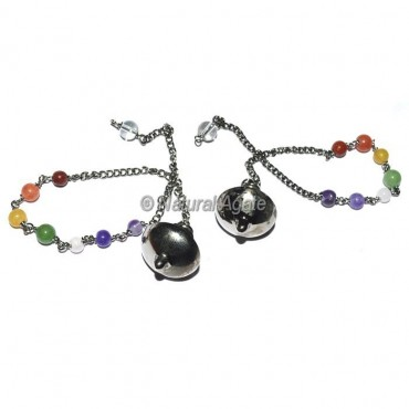 UFO Black Copper Metal Pendulums with chakra chain