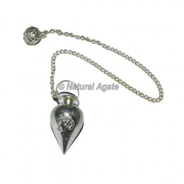 Silver Om Brass Pendulum