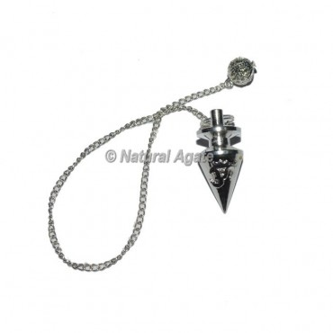 Silver Om Embossed Pendulums