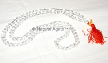 Crystal Quartz Midum Grade Quality Mala