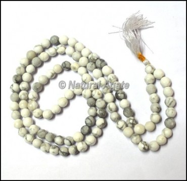 Howlite Faceted Jap Mala