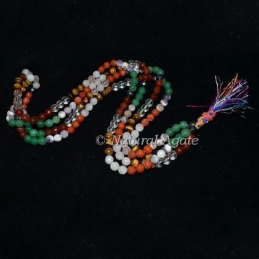 Seven Chakra Faceted Gemstone Mala