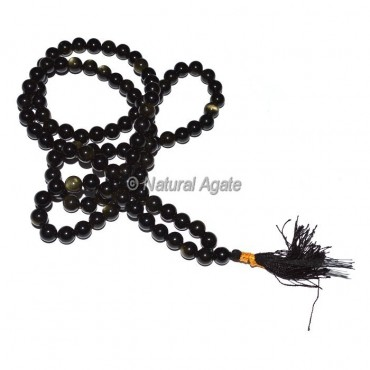 Black Rainbow 108 Beads Jap Mala