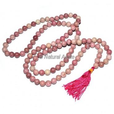 Rhodonite 108  Beads Jap Mala