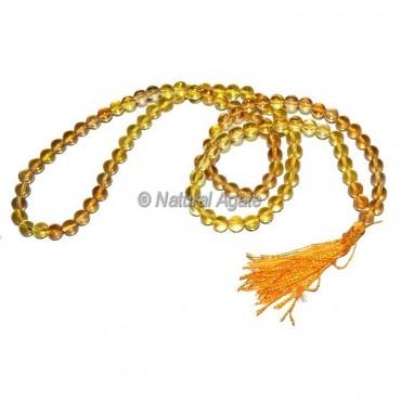 Citrine 108 Beads Jap Mala