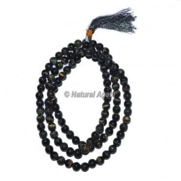 Black Eye Druzy Beads Jap Mala